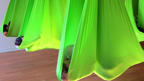 Lime Green Aerial Hammock